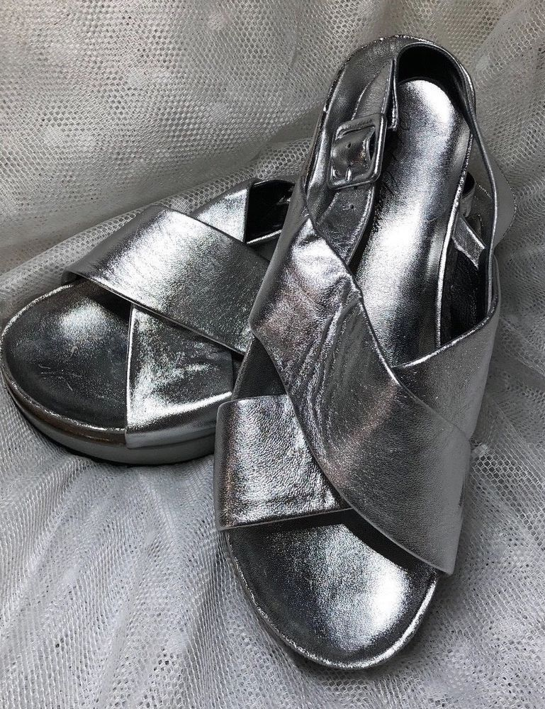 779d458c2c077 Robert Clergerie Womens Tessa Platform Dress Slingback Sandal Silver ...