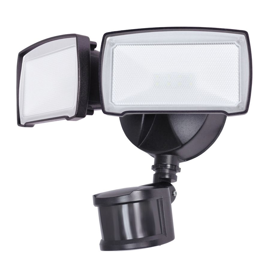 Utilitech Pro 180-Degree 2-Head Bronze LED Motion-Activated Flood ...