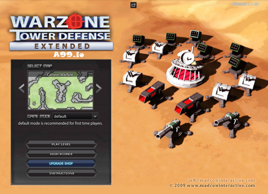 Play warzone tower defense unblocked on a99.io. Tower