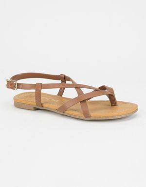 adfa4368a SODA Criss Cross Girls Thong Sandals Brown