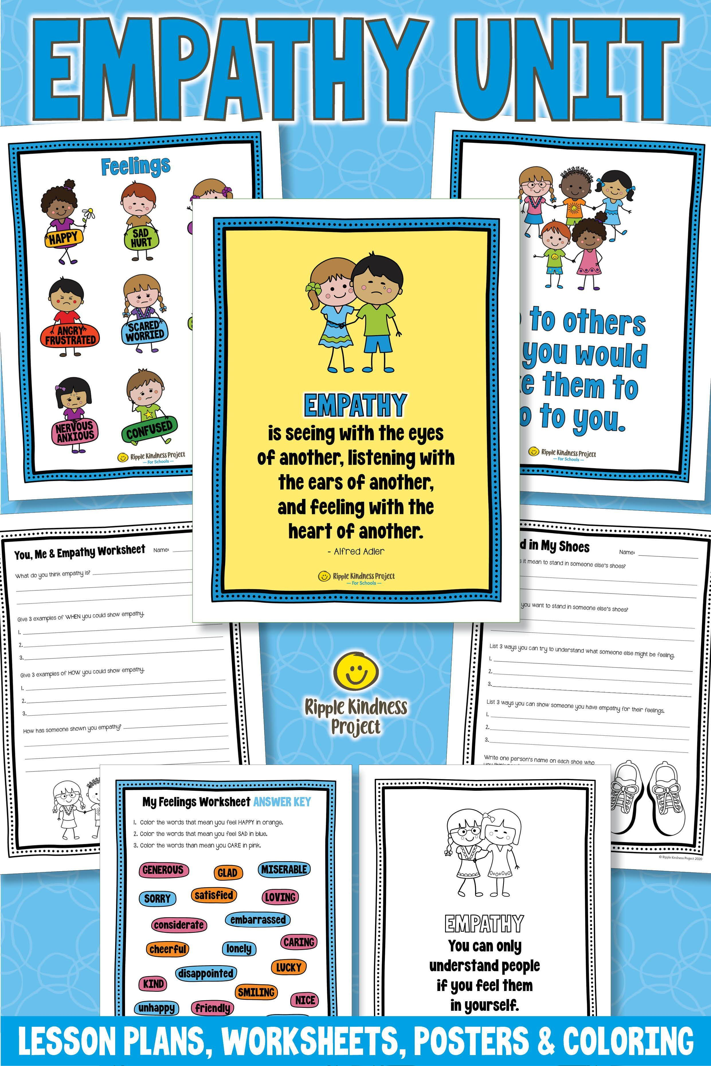 Empathy Worksheets Posters Amp Coloring Pages