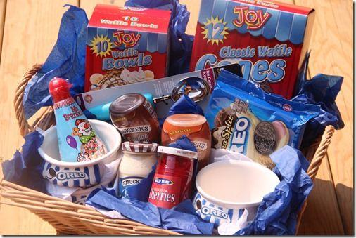 ice cream basket