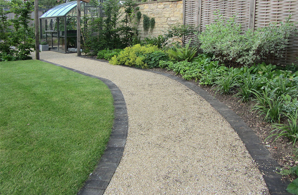 Photo of resin bonded gravel paths at DuckDuckGo #barn shed landscaping #bonded #DuckDuck…