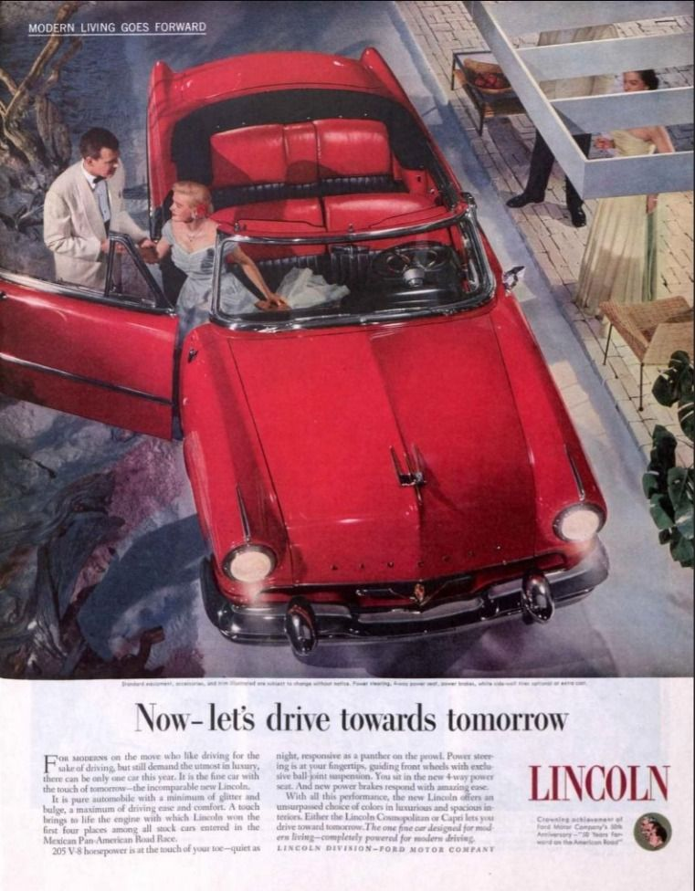 The Saturday Evening Post May 23 1953 Lincoln Convertible Car Ads
