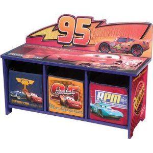 Disney Pixar Cars 3 Bin Toy Box Organizer by Delta   Kids Decor