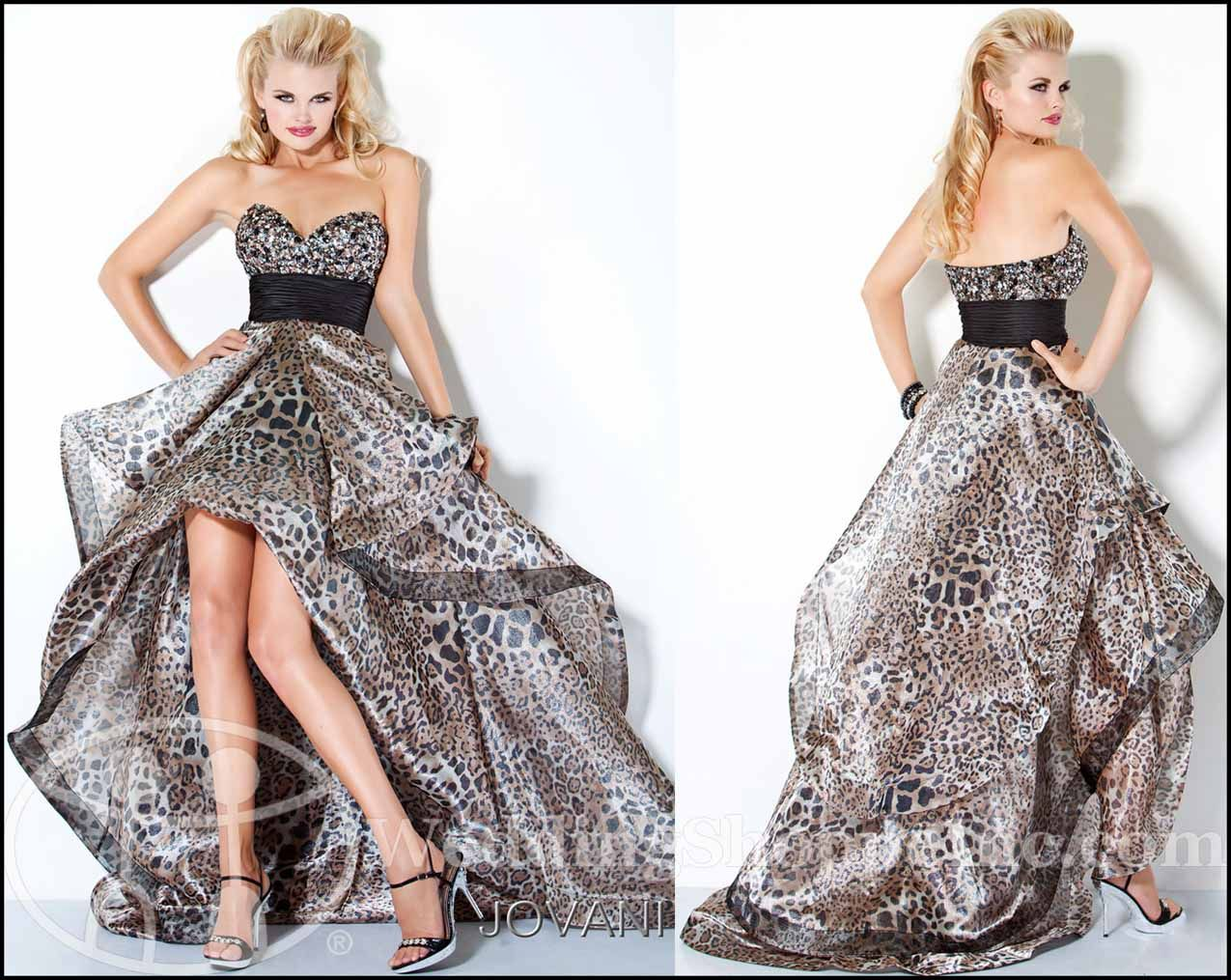 exotic prom dresses 2012 the leopard prom dress trend