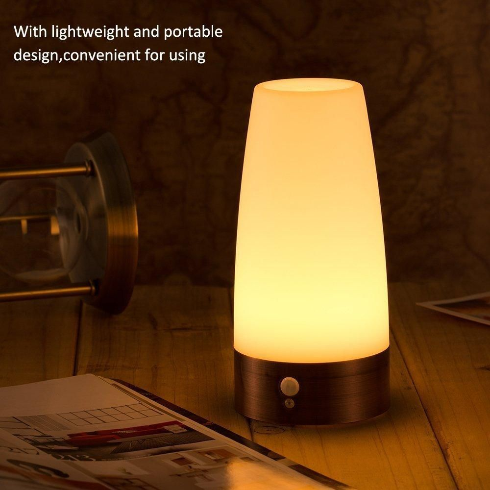Retro Night Light Wireless Pir And Motion Sensor 3 Mode Led Lamp Portable Indoor Step Light