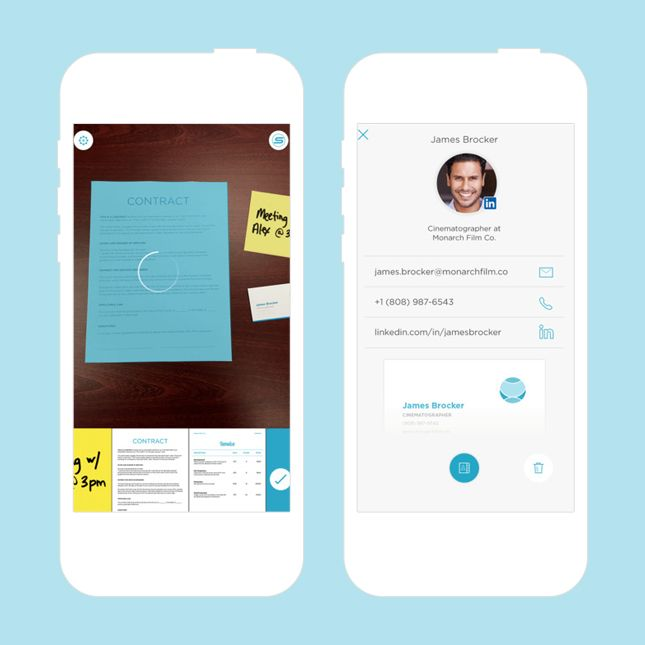 Use this app to scan documents straight to your phone.