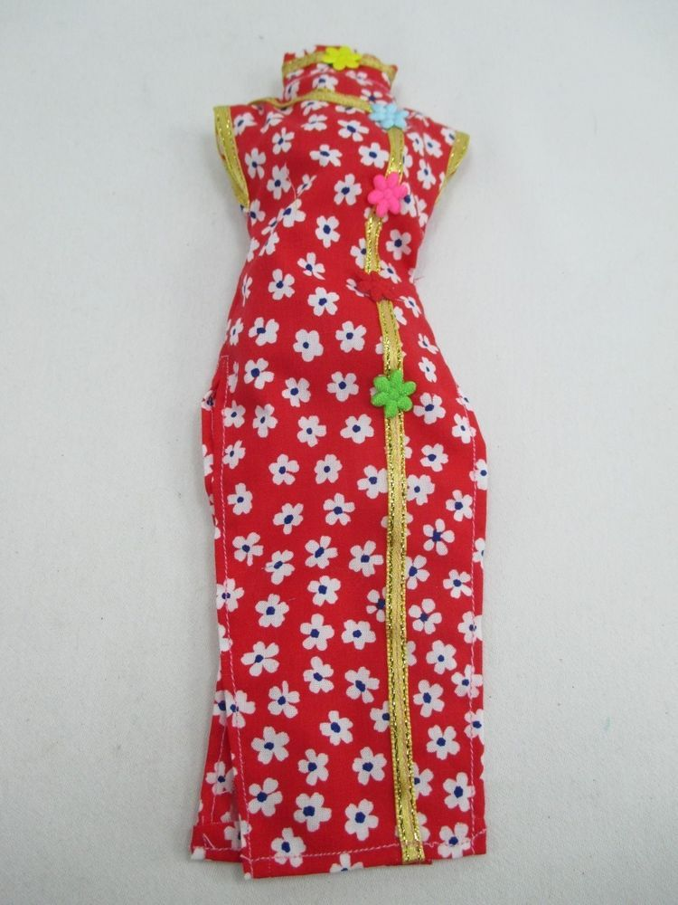 Handmade Barbie Outfit Traditional Chinese Qipao Cheongsam dress ...