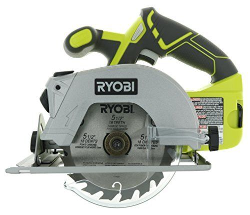Airtoolsdepot Ryobi P506 One Lithium Ion 18v 5 1 2 Inch 4 700 Rpm Cordless Circular Saw With Laser Guide And Carbide Tipped Blade Top