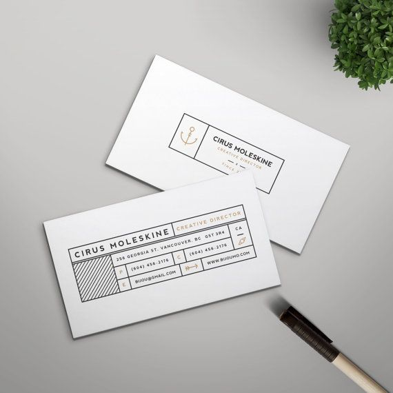 Modern business card template instant download editable template modern business card template instant download editable template the cirus clean typography reheart Choice Image