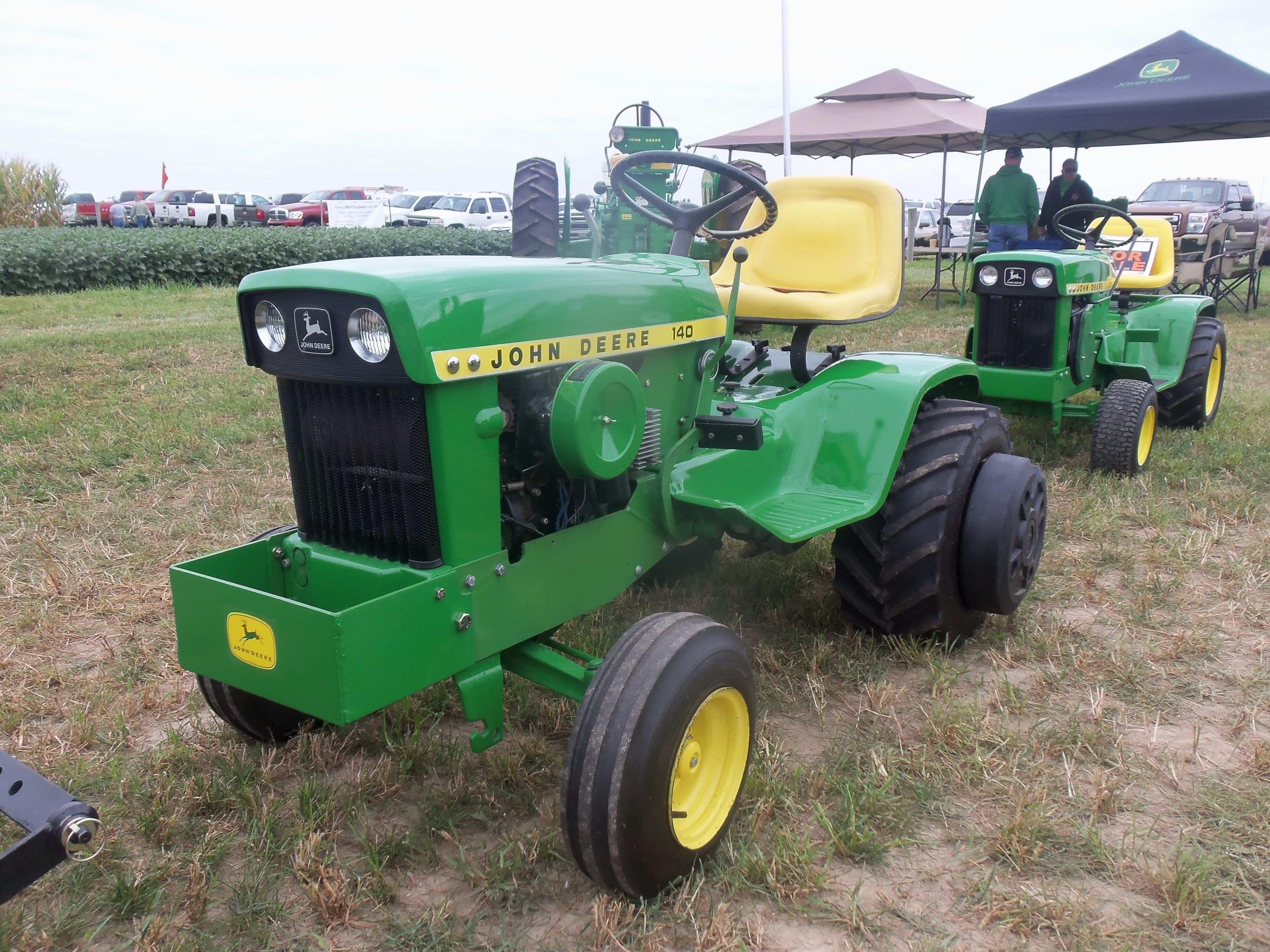 tractors gather john to celebrate deere of years and mowing dodge collector garden tractor lawn collectors