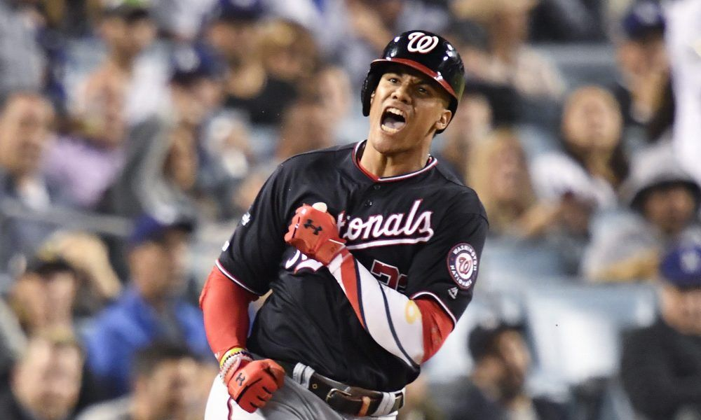 World Series Nationals Dominican Republic Academy Players Lost It For Juan Soto S Homer Best Baseball Player Baseball Players Mlb Players