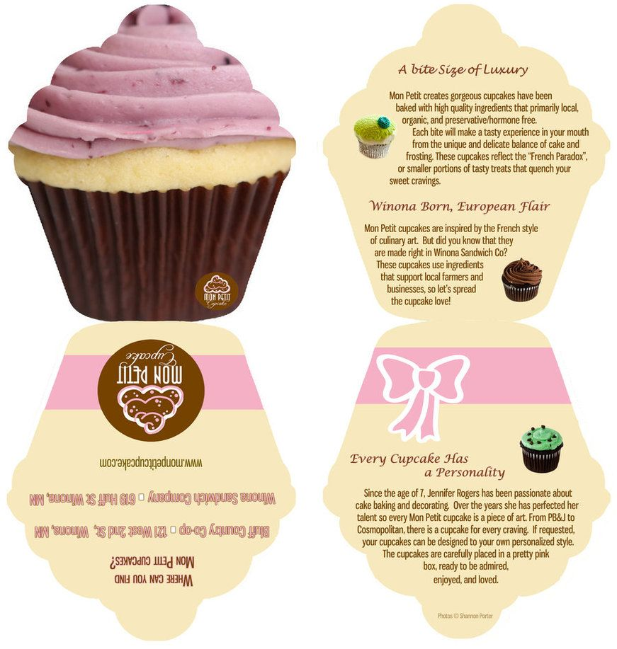 Mon Petit Cupcakes Flyer By Screamobassistxx On Deviantart With