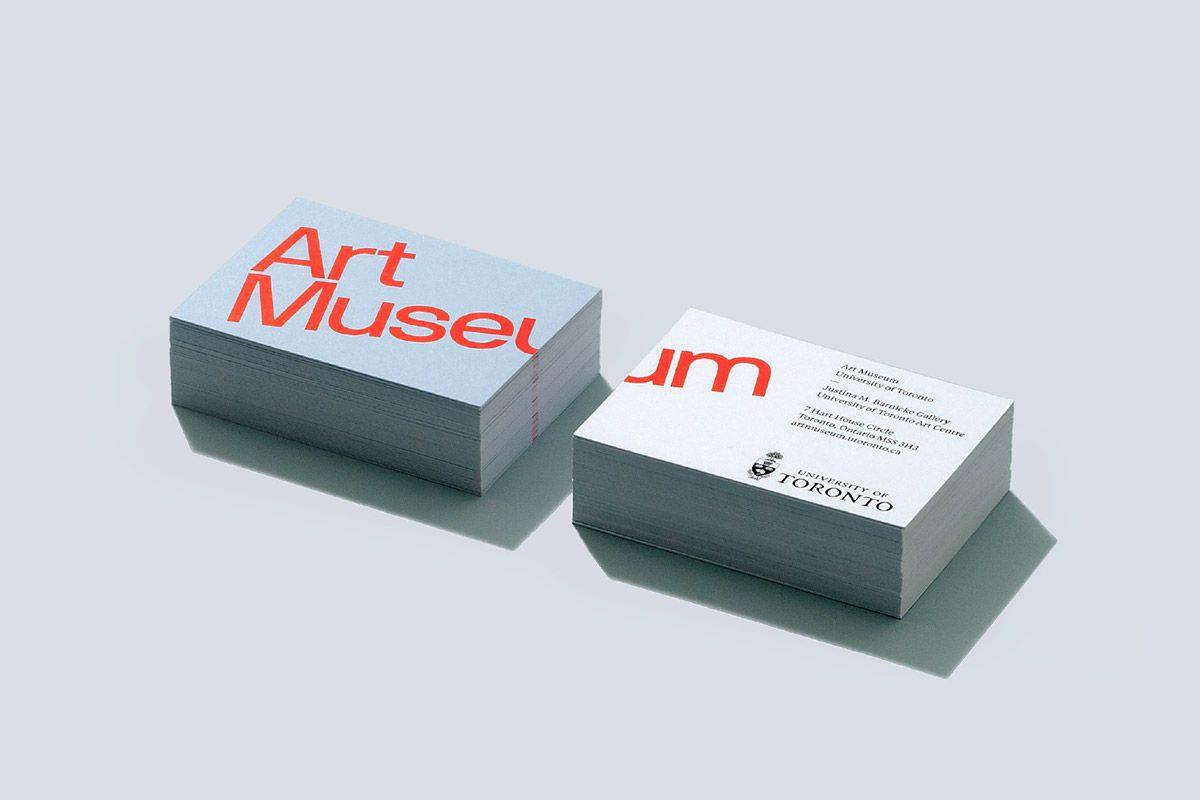 Art Museum University Of Toronto Identity On Behance Museum Branding Cool Business Cards Business Card Design