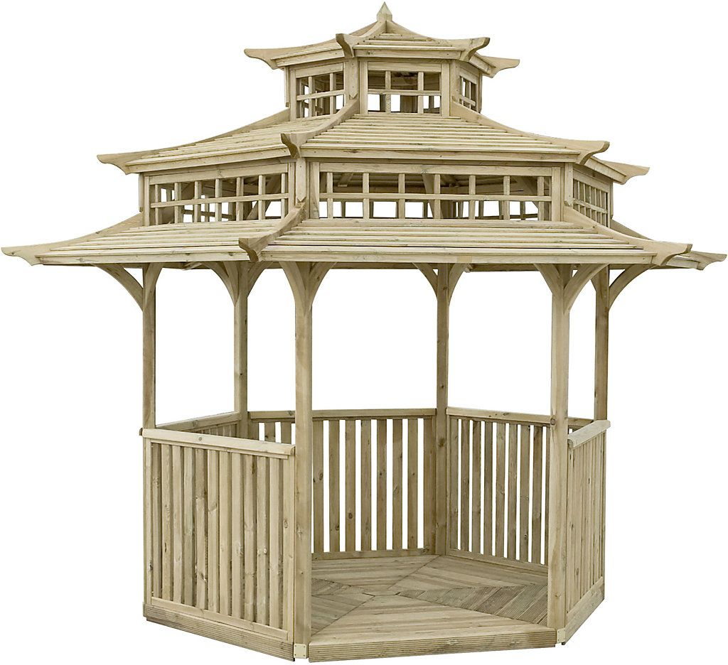 Rowlinson Oriental Natural Pagoda With Assembly Service Pagoda