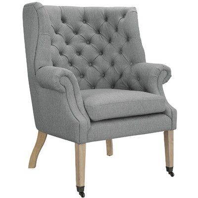 Modway Chart Lounge Chair Color: Light Gray