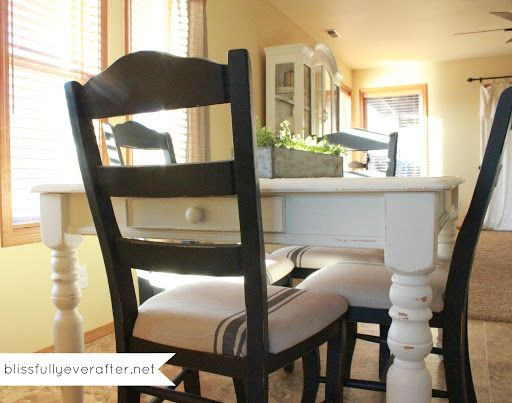 Blissfully Ever After: DIY Dining Table Makeover
