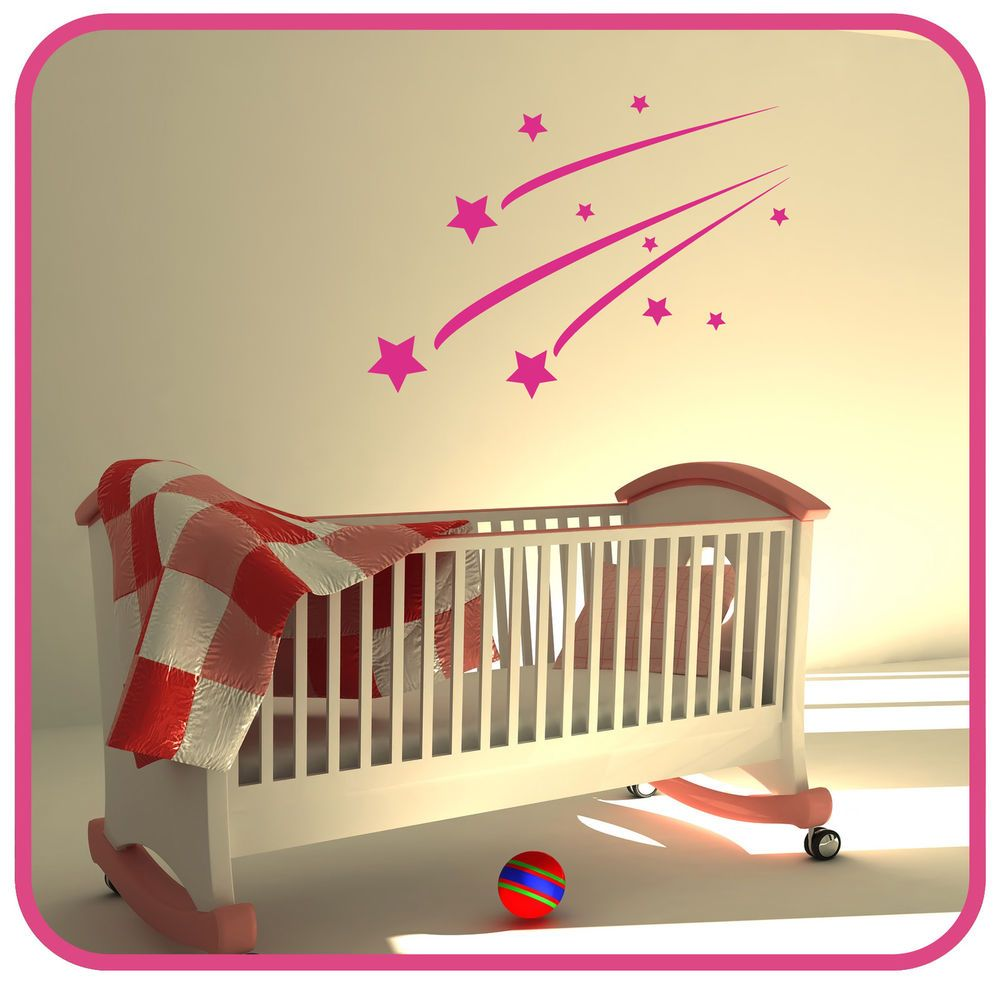 Details about SHOOTING STARS... KIDS BEDROOM WALL STICKER ART DECALS ...