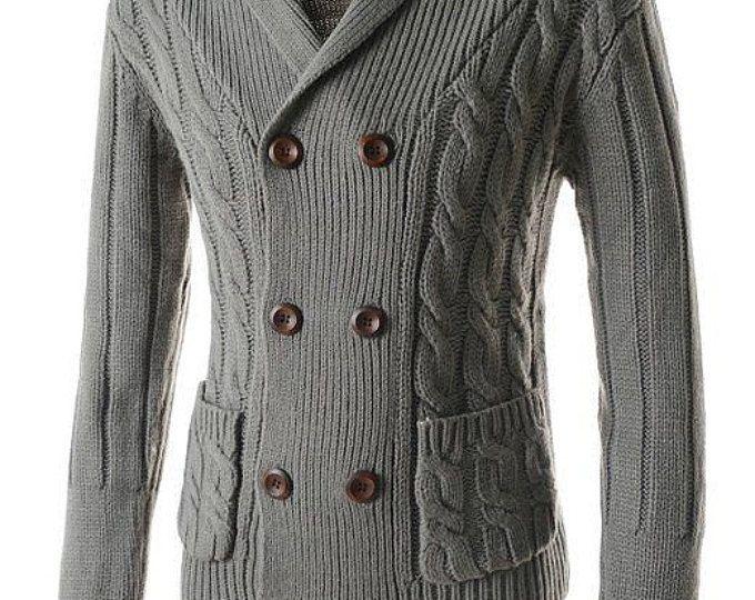 Tejido a mano de los hombres chaqueta hombres de chaqueta suéter cuello alto ropa aran de tejido de lana hecho a mano hombres cableado cuello redondo