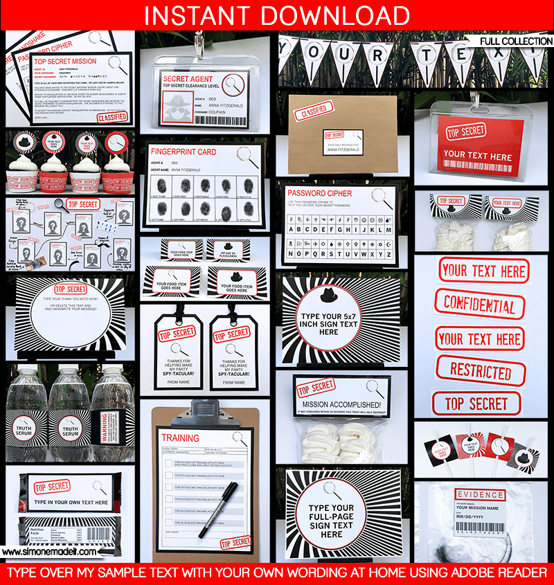 Secret Agent Birthday Party Invitations | Spy party, Secret code and ...
