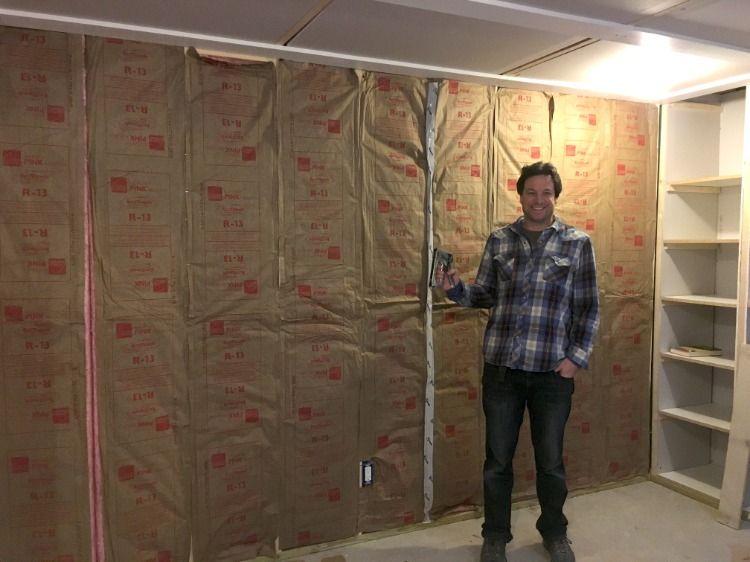 Basement Office Reveal Basement Insulation Basement Office Coffered Ceiling