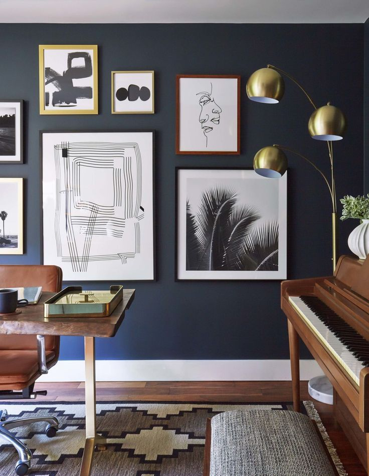 Moody Mid Century Home Office Shop The Look Emily Henderson Home Office Design Home Office Decor Home Decor