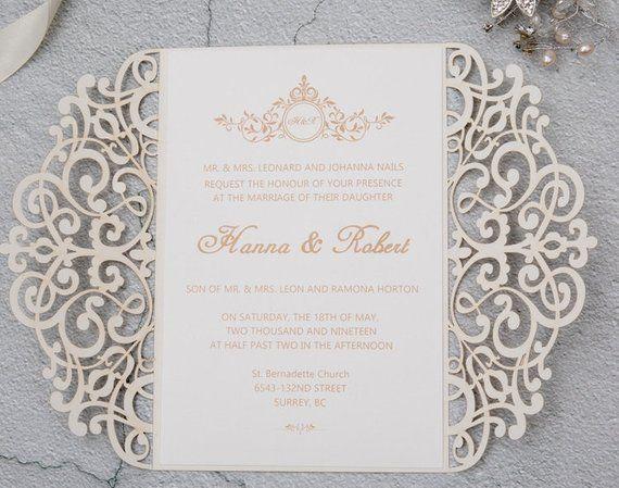 4f28e8ea9bfc 4.50 set GLITTER Laser Cut Wedding Invitation Gold Laser cut Glitter  quinceanera invitation Laser cu