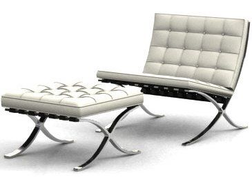 Barcelona Chair. Read also; http://t.co/HHbjq7ty