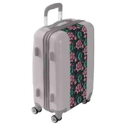 Lovely Pink Lotus motif elegant floral pattern Luggage luggage suitcase suitcases Trending - Review trunk luggage Trending