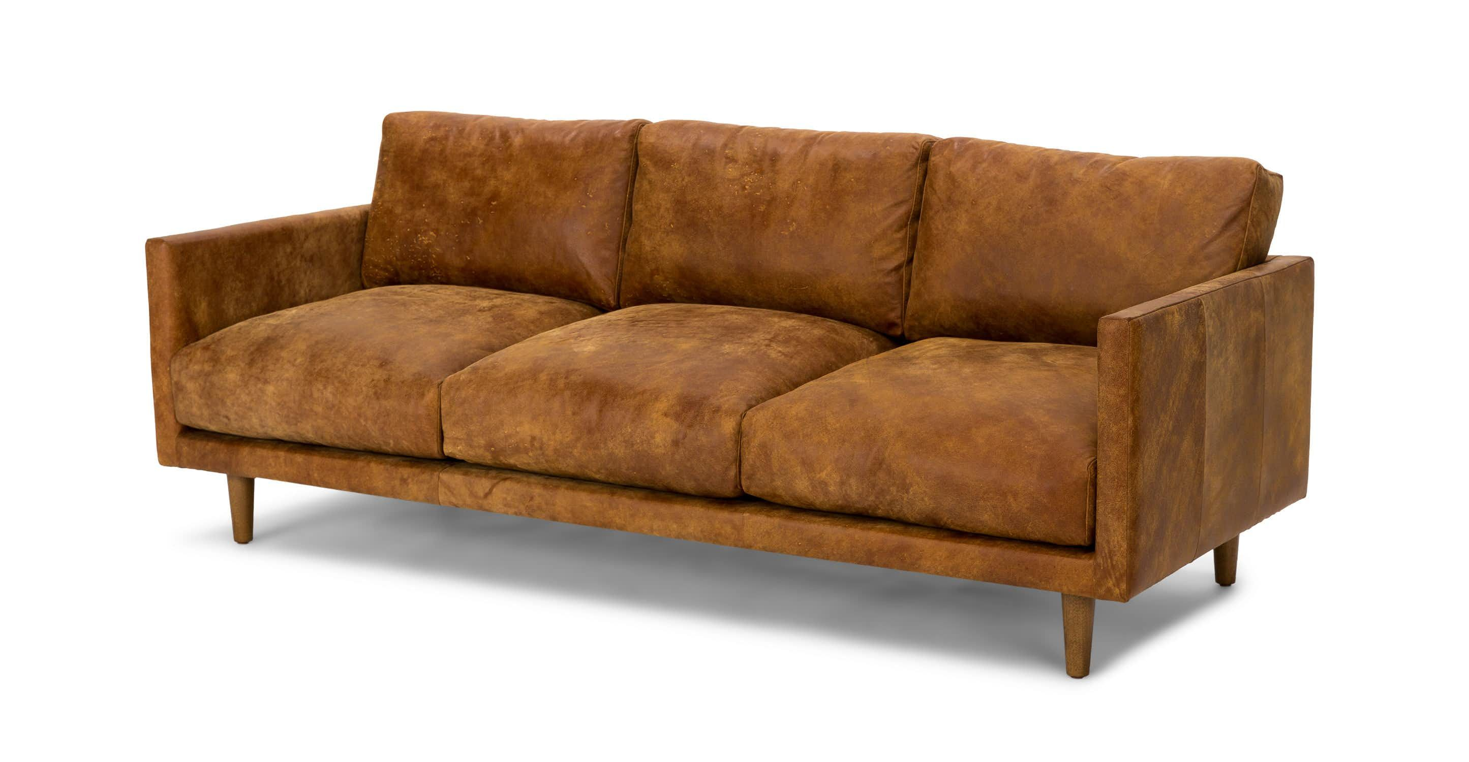 Outstanding Tan Brown Leather Sofa Upholstered Article Nirvana Machost Co Dining Chair Design Ideas Machostcouk