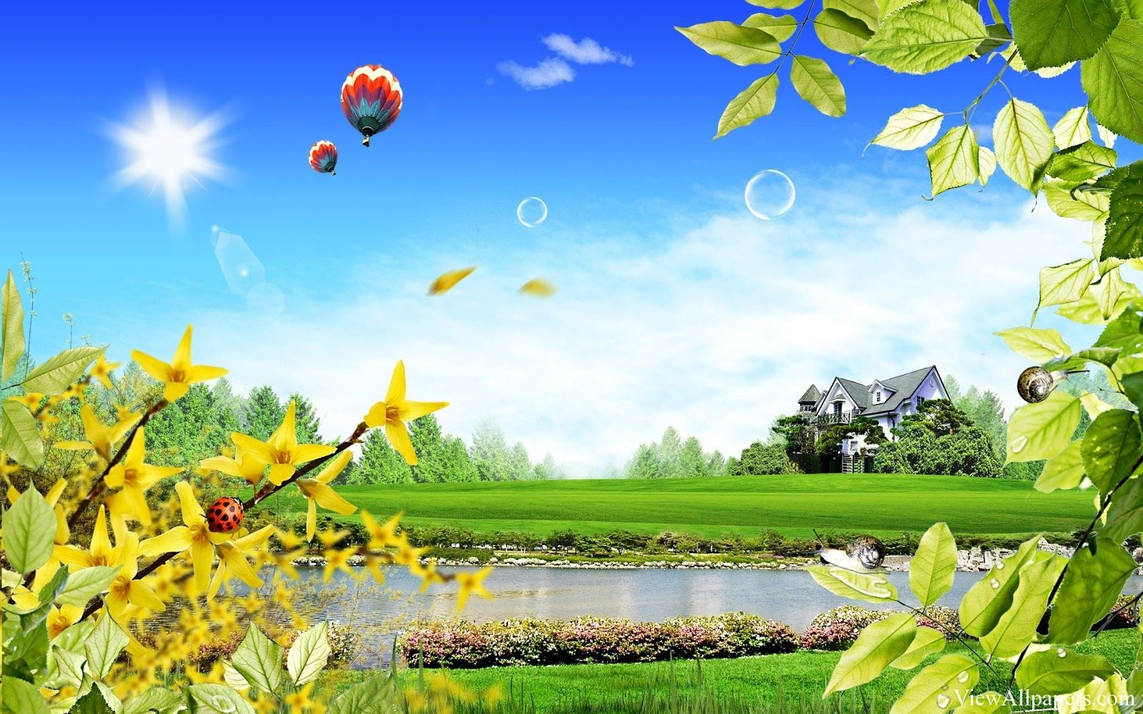 Nature wallpaper for computer desktop - Cool Nature 3d Wallpaper