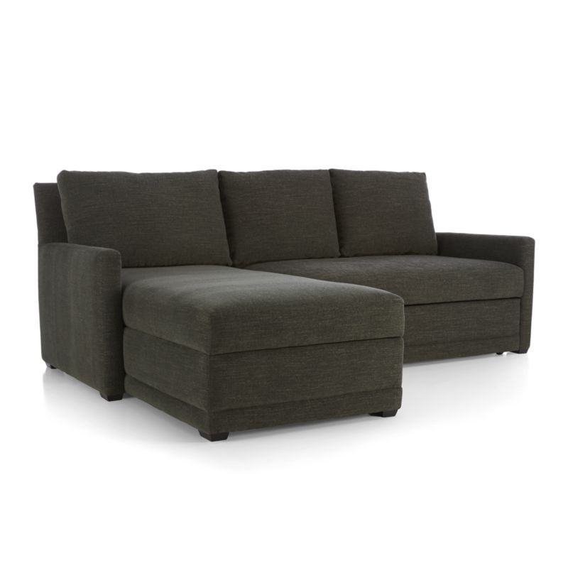 Reston 2 Piece Sleeper Sectional Sofa with Left Arm Storage Chaise