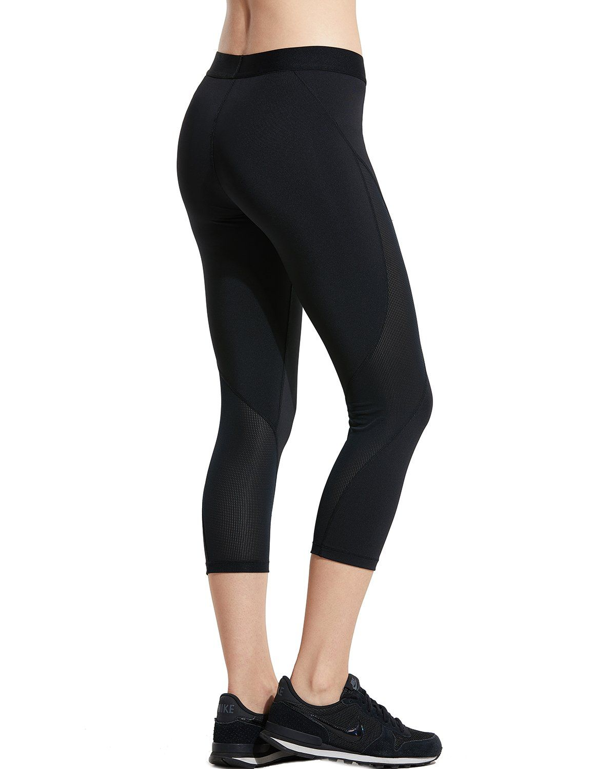 85f2e3708ac61 SYROKAN Womens Slimming Mesh Training Capri Leggings Sports Cropped Tights  Mesh/Black 21 M8/10 -- Read more at the image link. (This is an affiliate  link)