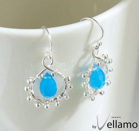 Etsy の Aqua blue chalcedony gemstone sterling silver by byVellamo