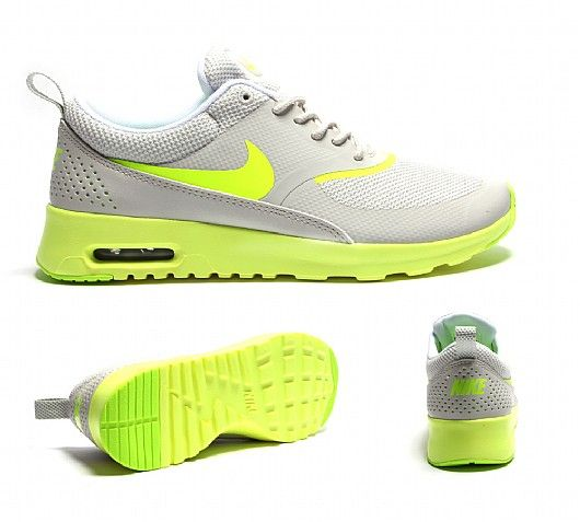 nike air max thea yellow and grey