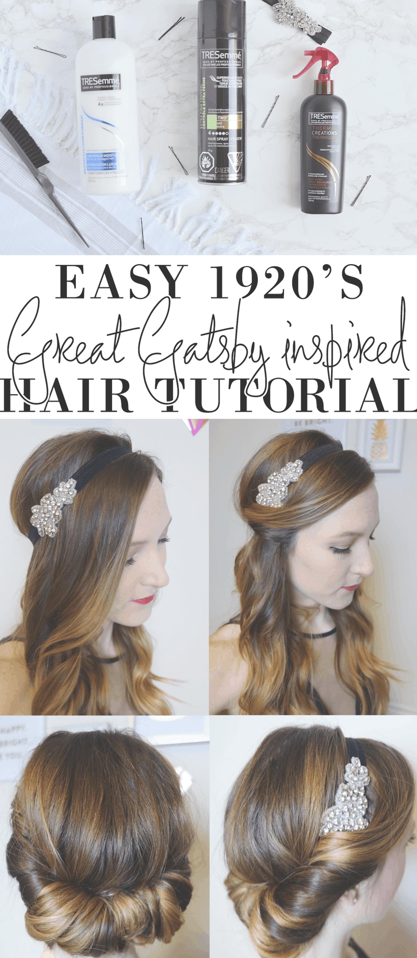 Easy 1920 S Great Gatsby Hair Tutorial Ad Gatsby Hair Great Gatsby Hairstyles 1920s Hair Tutorial