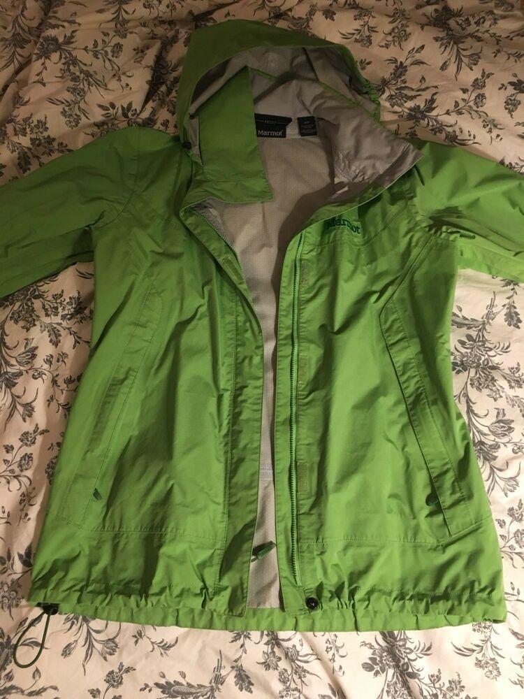Womens Marmot Precip Lightweight Packable Rain Jacket sz Medium M  fashion   clothing  shoes dfca72da9d