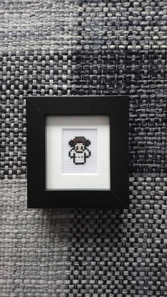 Star Wars Princess Leia Cross Stitch in black frame and mount ...