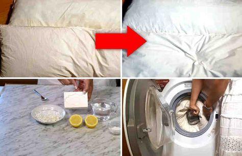 El sudor hace que con el tiempo y el uso las almohadas empiecen a mostrar un color amarillento. También las almohadas absorben el polvo y mal olores.     Hoy te mostraremos cómo lavar las almohadas para dejarlas como nuevas. Mientras que lavamos las sábanas una vez a la semana, las almohadas qu