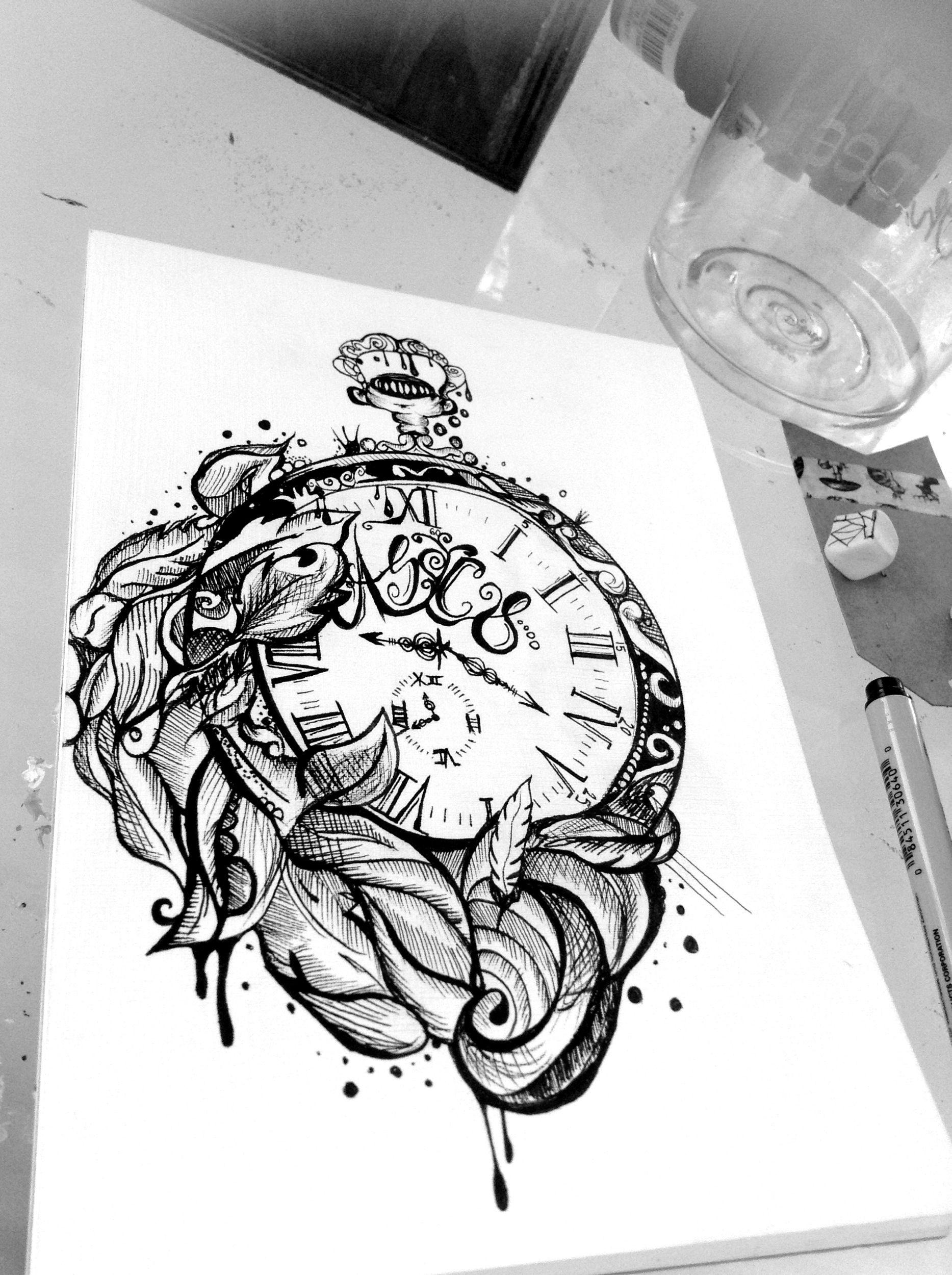 Pin By Bella Oppenheim On Ink Clock Tattoo Design Clock Tattoo Time Tattoos