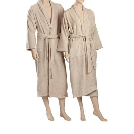 Exceptionalsheets Egyptian Cotton Terry Cloth Robe Taupe Medium