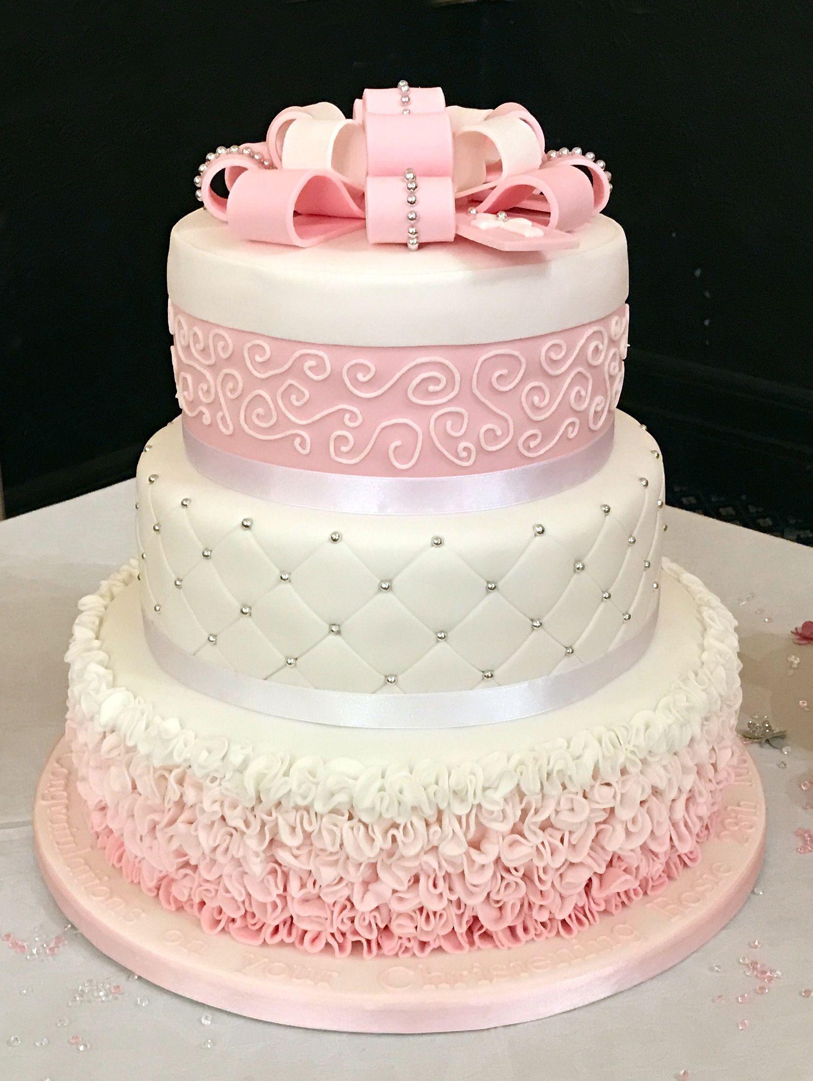 Christening cake | vx | Pinterest | Christening cakes and Cake