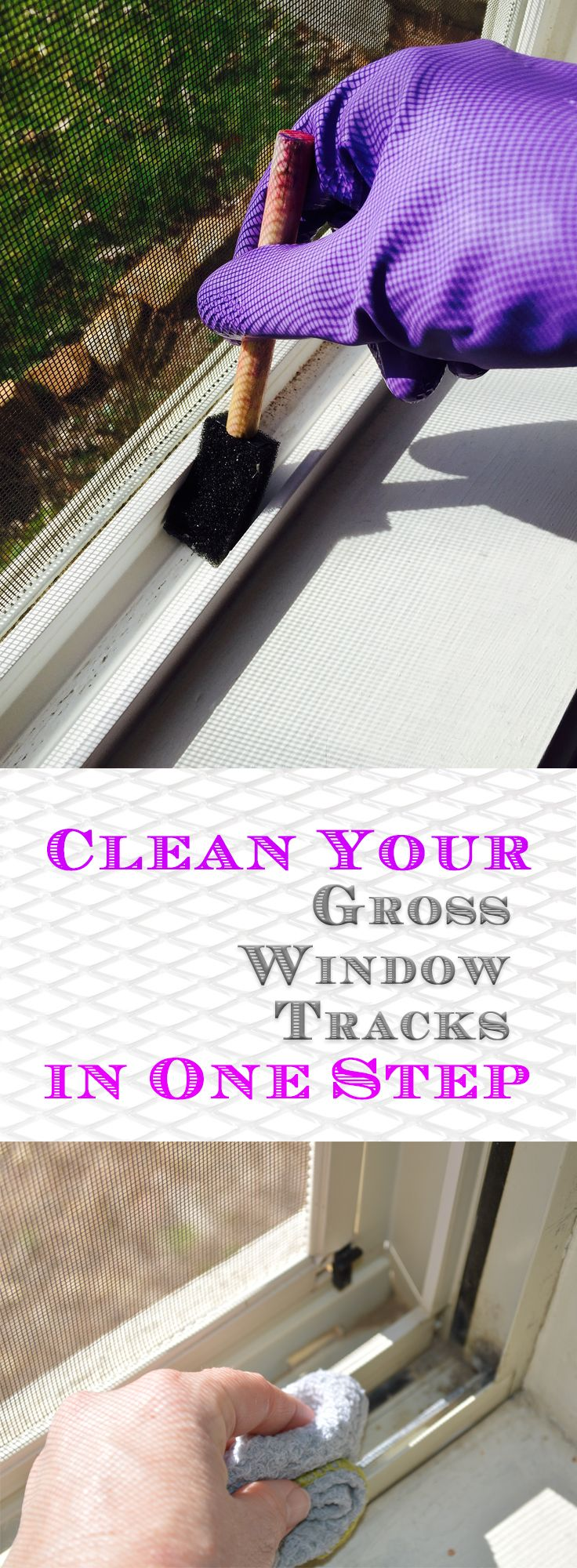 Clean Your Gross Window Tracks in One Step - Random Somethings