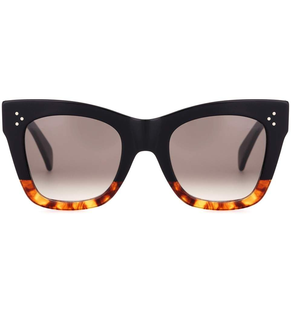 156df593611a0 Celine Catherine black and brown sunglasses