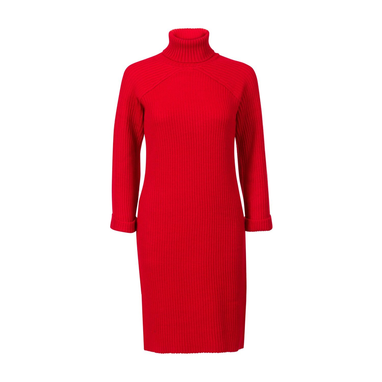 rode jurk steps