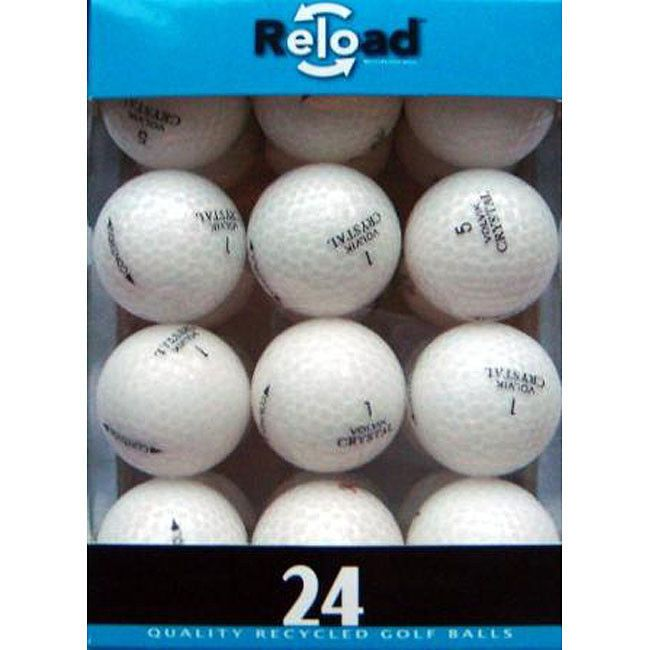 Volvik Crystal White Golf Balls Pack Of 48 Environmentally Friendly Game Day Fun