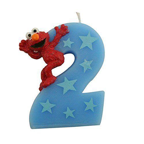 Sesame Street Elmo Number 2 Birthday Cake Candle Bakery Crafts