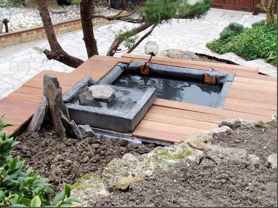 bassin de jardin en pierre hors sol - Bassin de jardin  Bassin