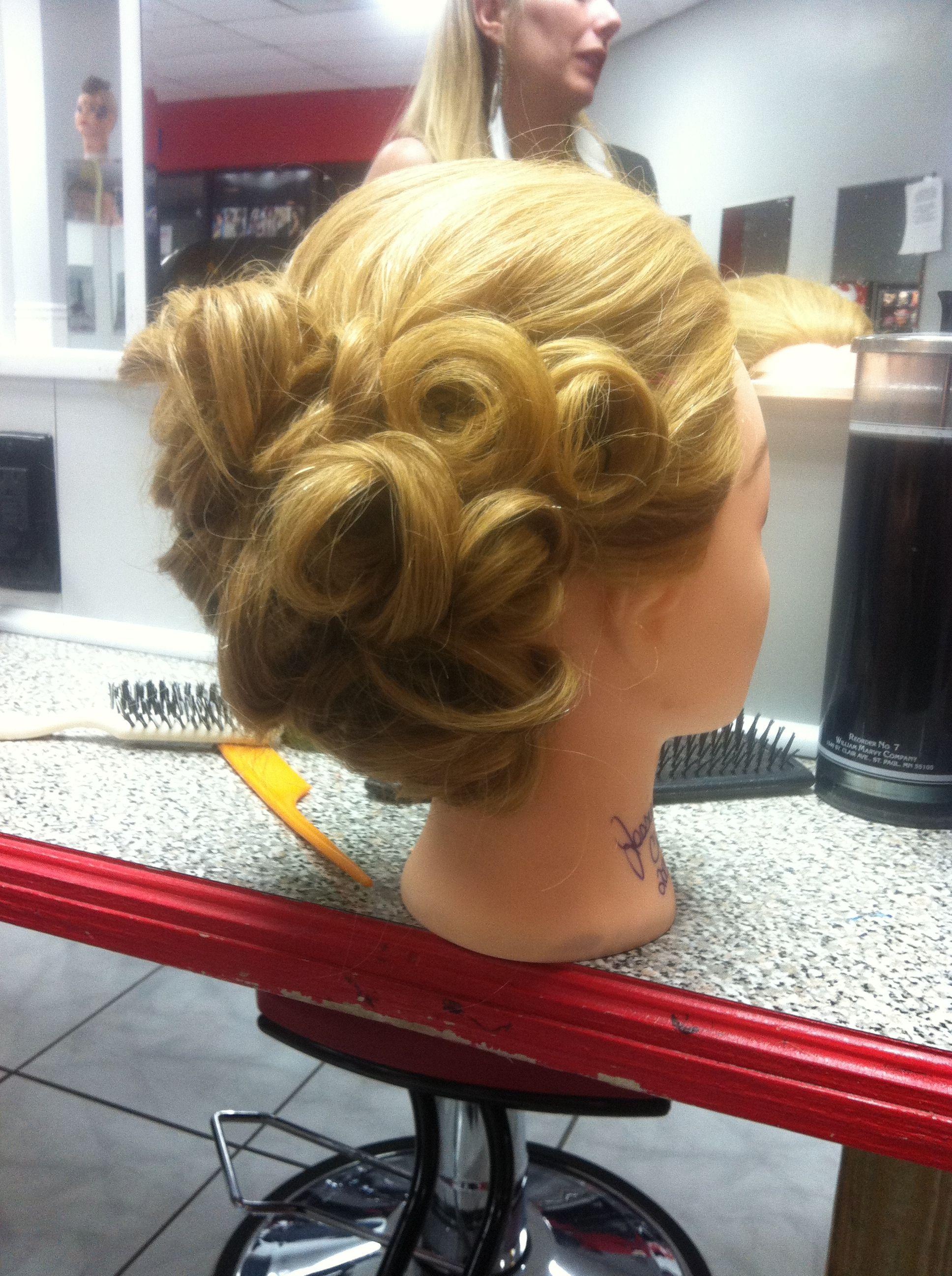 Pin curl updo hair hair hair pinterest pin curl updo pin